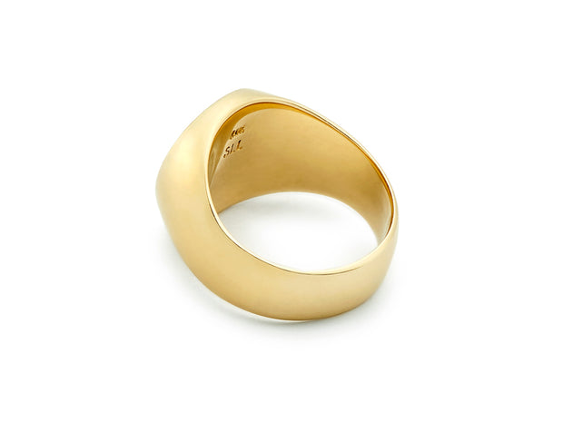 The Swan Signet Ring in 18kt Gold