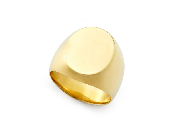 The Tiny Toni Signet Ring in 18kt Gold