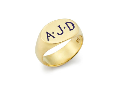 The Tracy Signet Ring in 18kt Gold