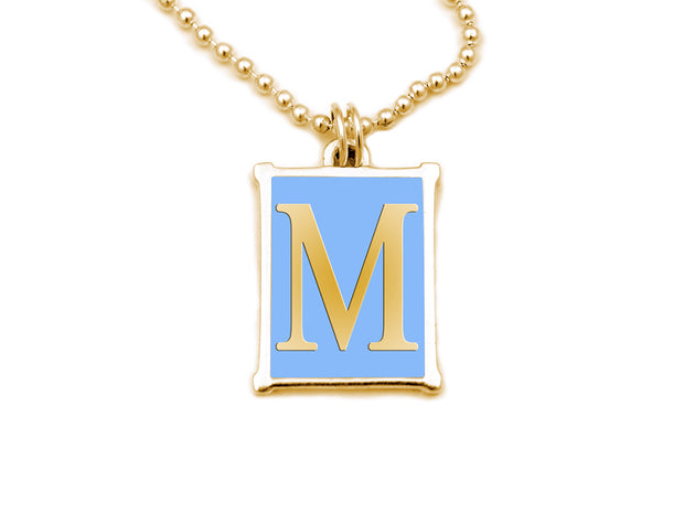 The Alphabet Collection™ 14kt Yellow Gold Charm - White Elephant Blue