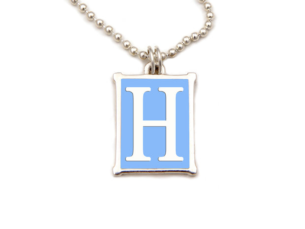 The Alphabet Collection™ Sterling Silver Charm - White Elephant Blue