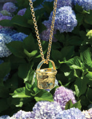 "Nantucket ""Anti-Basket"" Pendant in 18kt Gold"