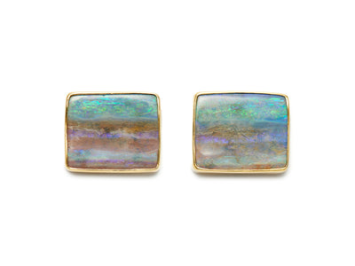 Australian Opal Cufflinks in 18kt Gold