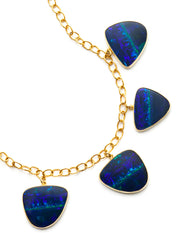 Six Stone Opal Necklace