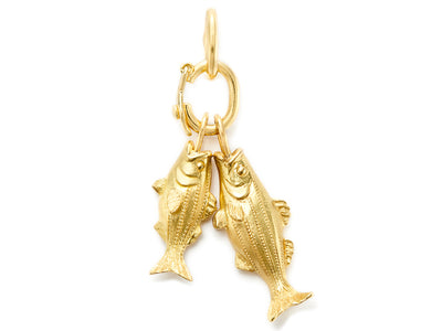 Nantucket Striped Bass Pendant in 18kt Yellow Gold