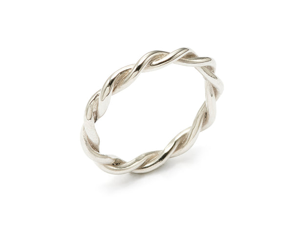 Twists - Twisted Bands in 18kt Gold variations and Sterling Silver
