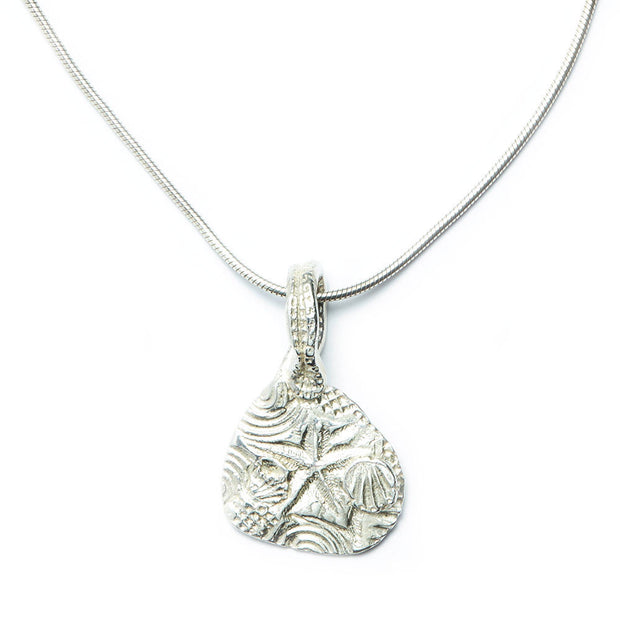 The Beach Pendant in Sterling Silver