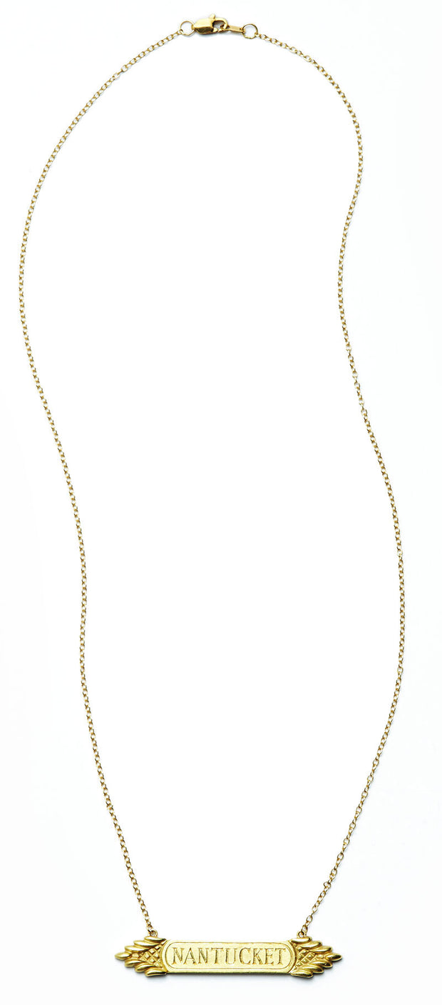 The Quarterboard Necklace™ in 18kt Gold