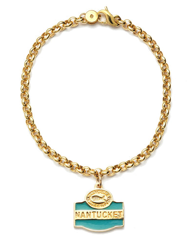 The Rolo Chain Bracelet in 18kt Gold