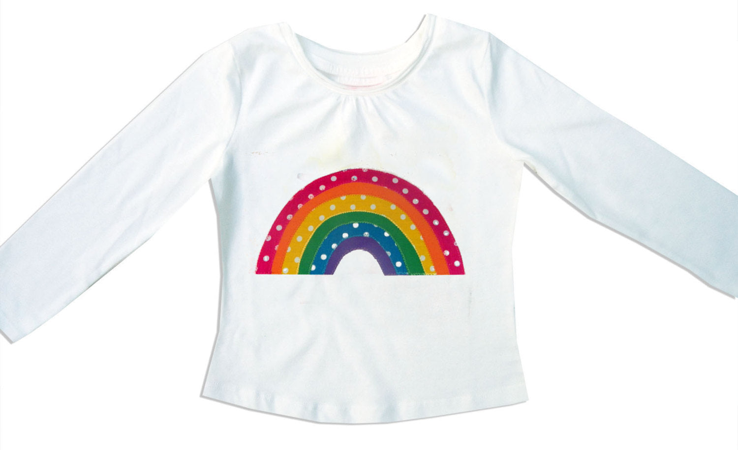 Girl's Rainbow Skirt and T-shirt, Rainbow Tee Shirt, Girls Clothing, Rainbow Clothes, Toddler Clothing, Rainbow Gift for Girls