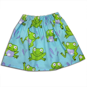 Girl's Frog Skirt ,Girls Clothing, Skirts for Girls, Toddler Clothing, Frog Lover, Baby Girl Clothing