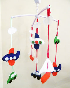 Baby Boy Musical Mobile, Cot Mobile Car Baby mobile, Aeroplane Mobile, Boat Mobile, Boys Nursery Decor,