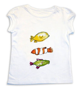 Girl's Fish T-Shirt, Girls Clothing, Toddler Clothing, Girls T-shirt, Gift for Girls