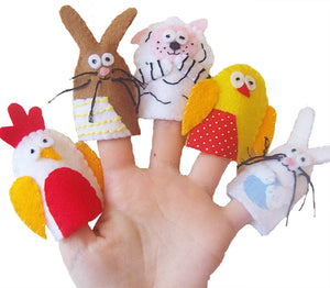 Easter Finger Puppets, Kids Easter Gift, Traditional Toys, Felt Finger Puppets, Baby Toy, Stocking Filler