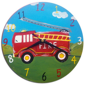 Personalised Fire Engine / Fire Truck Door Sign, Gifts for Boys, Boys Decor
