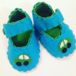 Car Baby Boy Shoes, Baby Boy Gift, Gift for Boys, Baby Boy Clothes, Felt Baby shoes