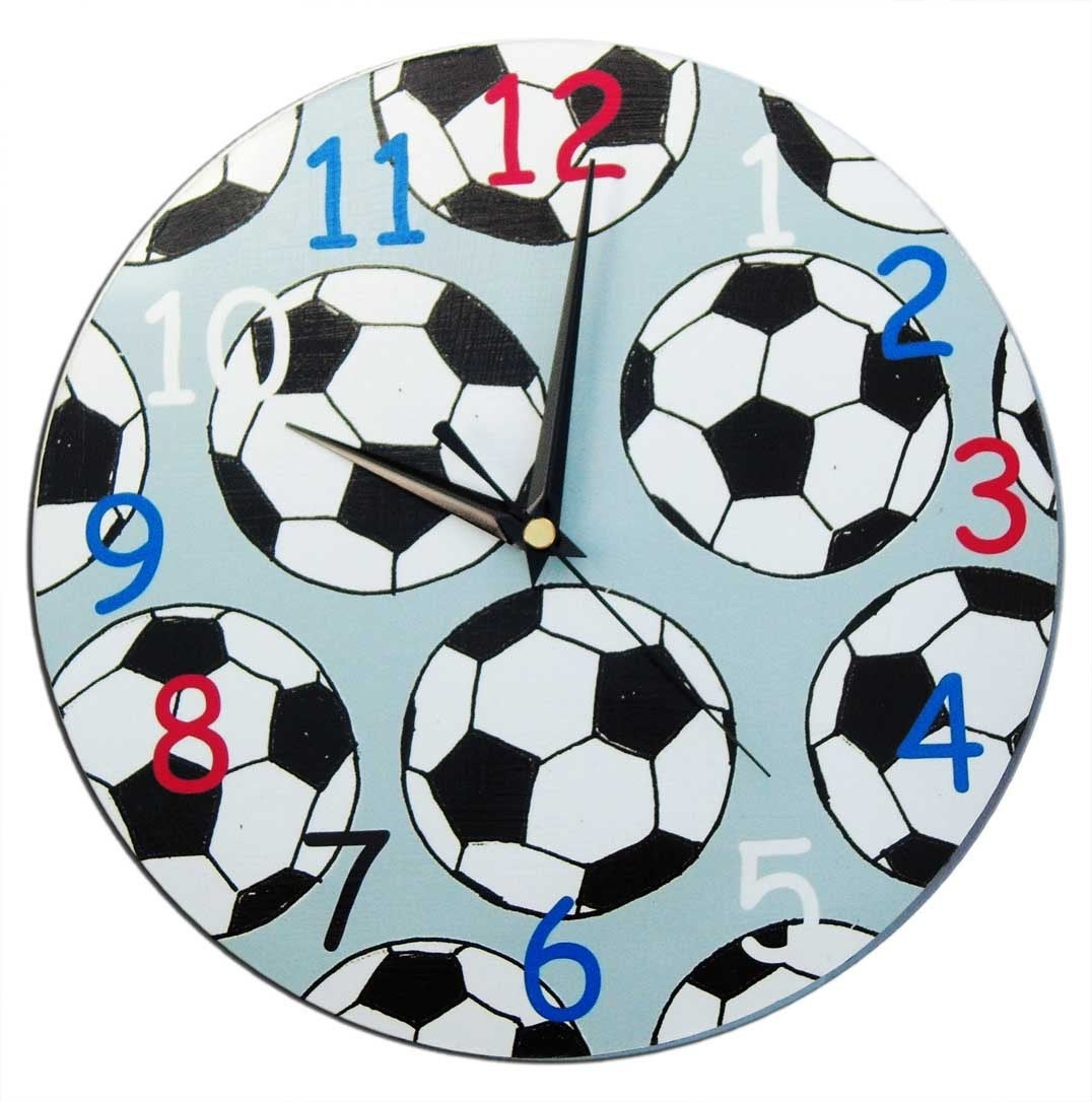 Kids Football Clock,  Soccer Clock, Boys Clock, Football Decor, Boys Decor, Football Gift, Gift for Boys
