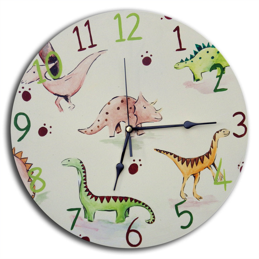 Dinosaur Clock, Kids Clock, Boys Nursery Decor, Dinosaur Decor, Gift for Boys