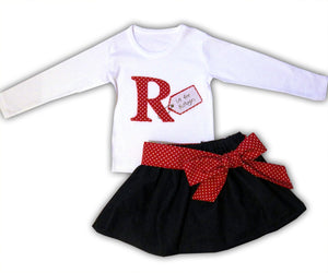 Girl's Personalised Skirt and T-shirt Outfit, Girls Clothing, Gifts for Girls