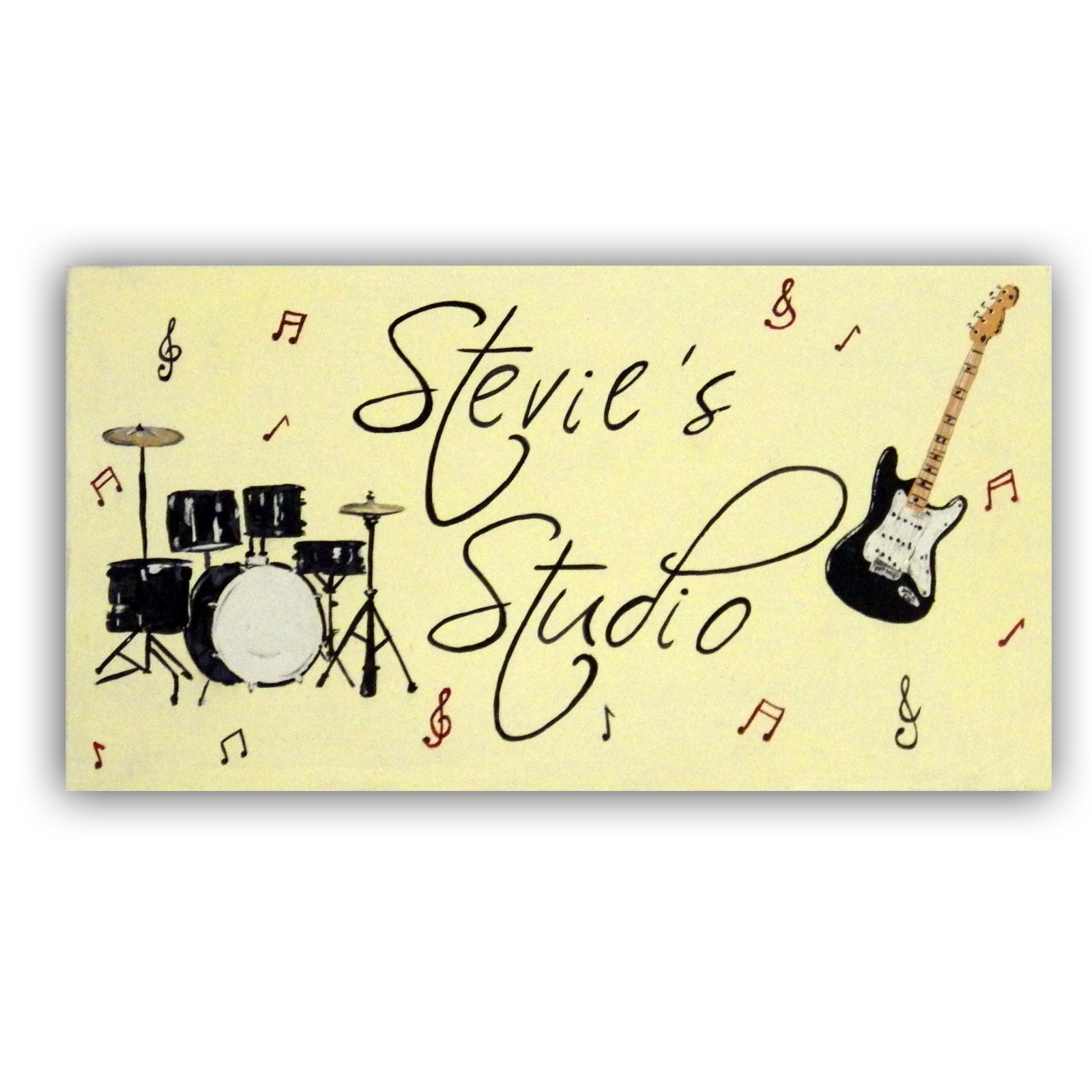 Personalised Music Door Sign, Personalized Door Sign, Kids Decor, Music Room Sign, Gift for Music Lover