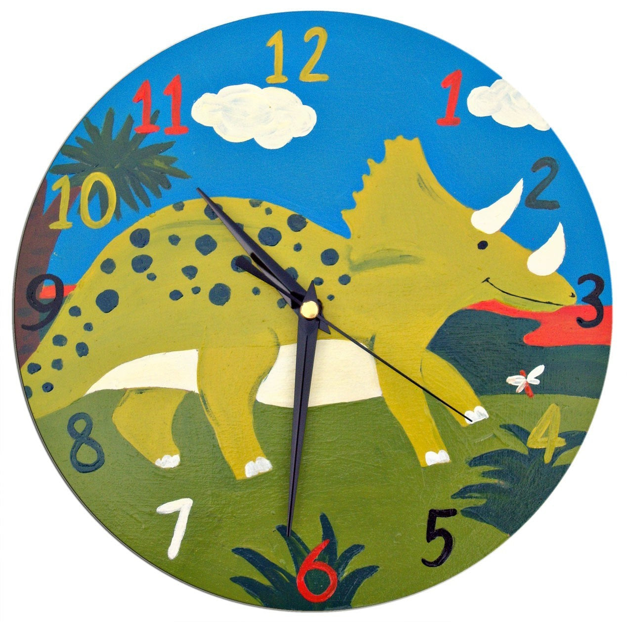 Dinosaur Clock, Kids Clock, Boys Bedroom Decor, Wall Decor, Dinosaur Decor, Gift for Boys