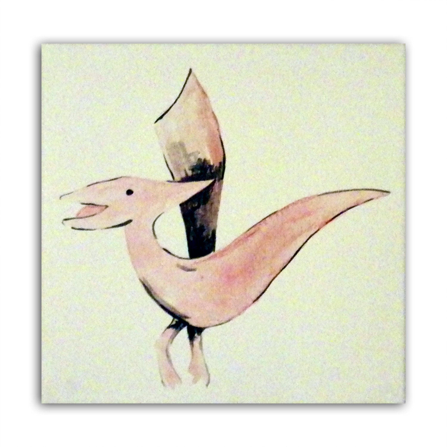 Dinosaur Art - Pterodactyl, Painting on Canvas, Boys Nursery Decor, Dinosaur Decor, Boys Art