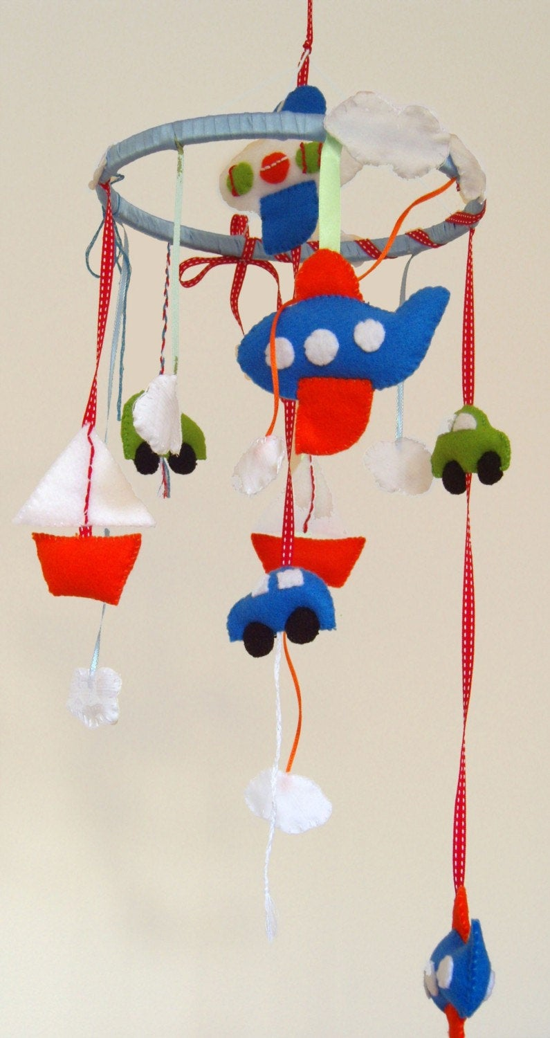 Baby Boy Mobile, Car Baby mobile, Aeroplane Mobile, Boat Mobile, Boys Nursery Decor, Ceiling Mobile