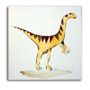 Dinosaur Art , Velociraptor Art, Dinosaur Painting, Boys Nursery Decor, Dinosaur Decor, Dinosaur Canvas
