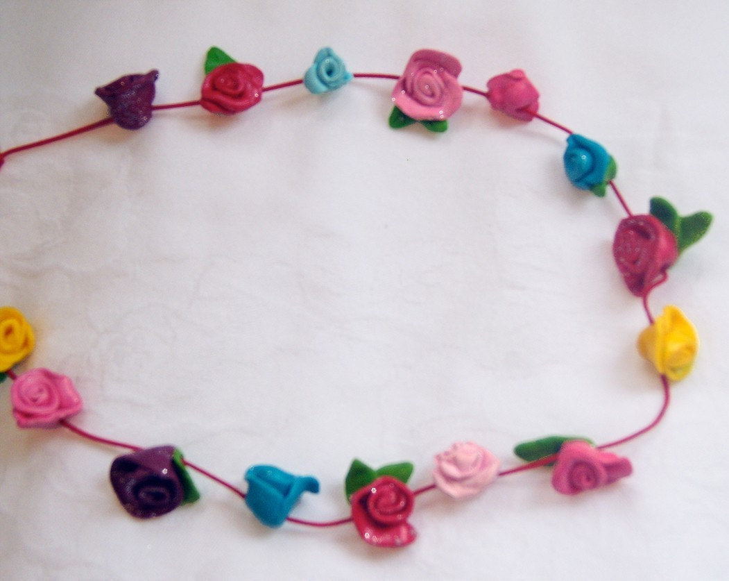 Girls Flower Necklace, Girls Jewellery, Girls Stocking Filler, Girls Jewelry, Gift for Girls