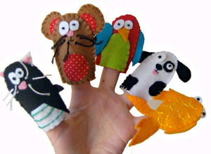 Animal Finger Puppets, Pets, Kids Toys, Toddler Toys, Stocking Filler, Gift for Boys, Gift for Girls