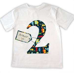 Boy's Personalised Age T-Shirt, Personalized Age Tee Shirt, Birthday Tshirt, Birthday Gift, Gift for Boys