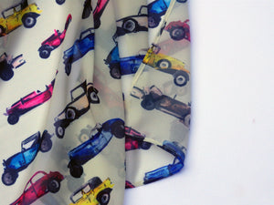 Large Car Chiffon Scarf, Woman's Scarf, Spring Summer Autumn Scarf, Gifts for her, Mother's Day Gift, Gift for Car Lover