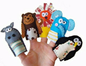 Wildlife Finger Puppets, Traditional Kids Toys, Stocking Filler, Party Favour, Baby Toys, Gift for Boys, Gift for Girls