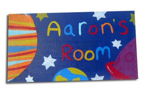 Space Door Sign, Personalised Door Sign, Personalized Door Sign, Gift for Boys, Space Decor, Stocking Filler