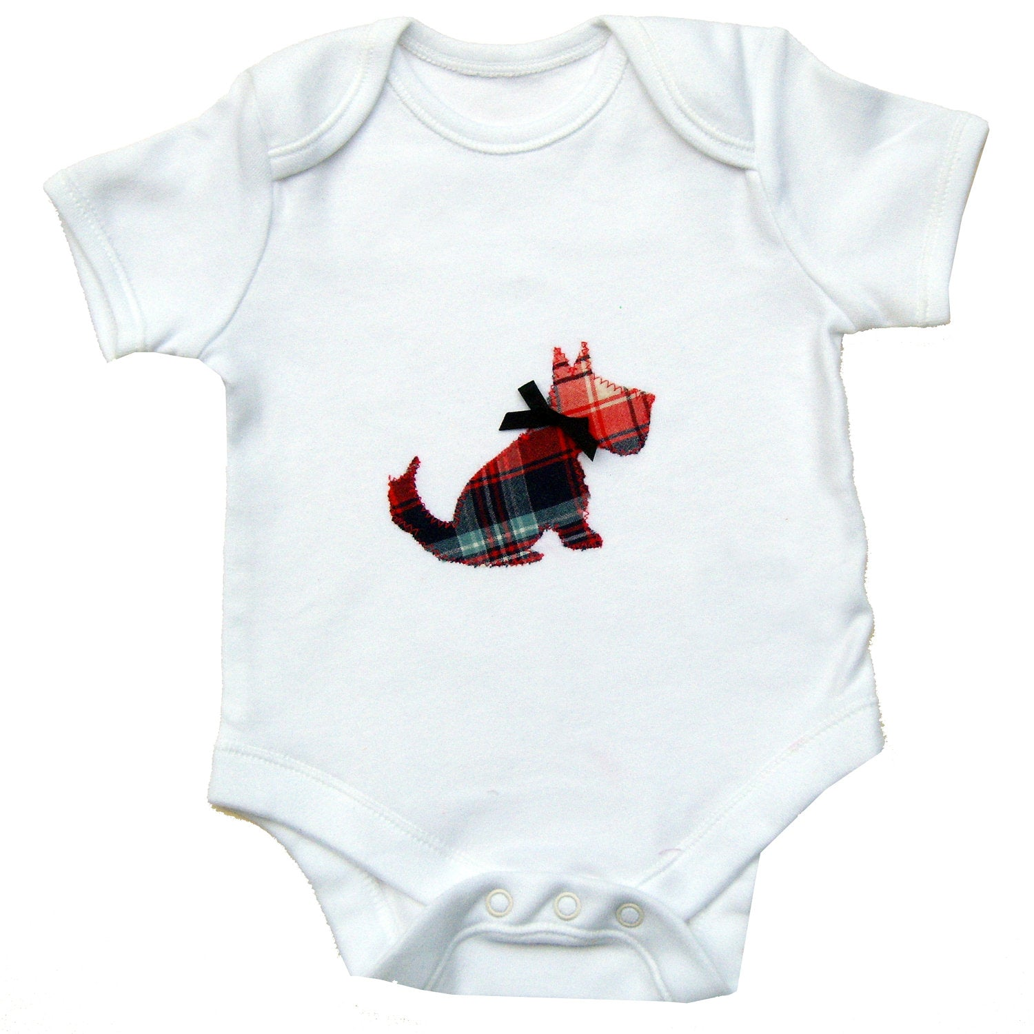 Baby Scottie Dog Bodysuit, Dog Lover, Baby Boy Clothing, Gift for Baby, Dog Baby Shirt