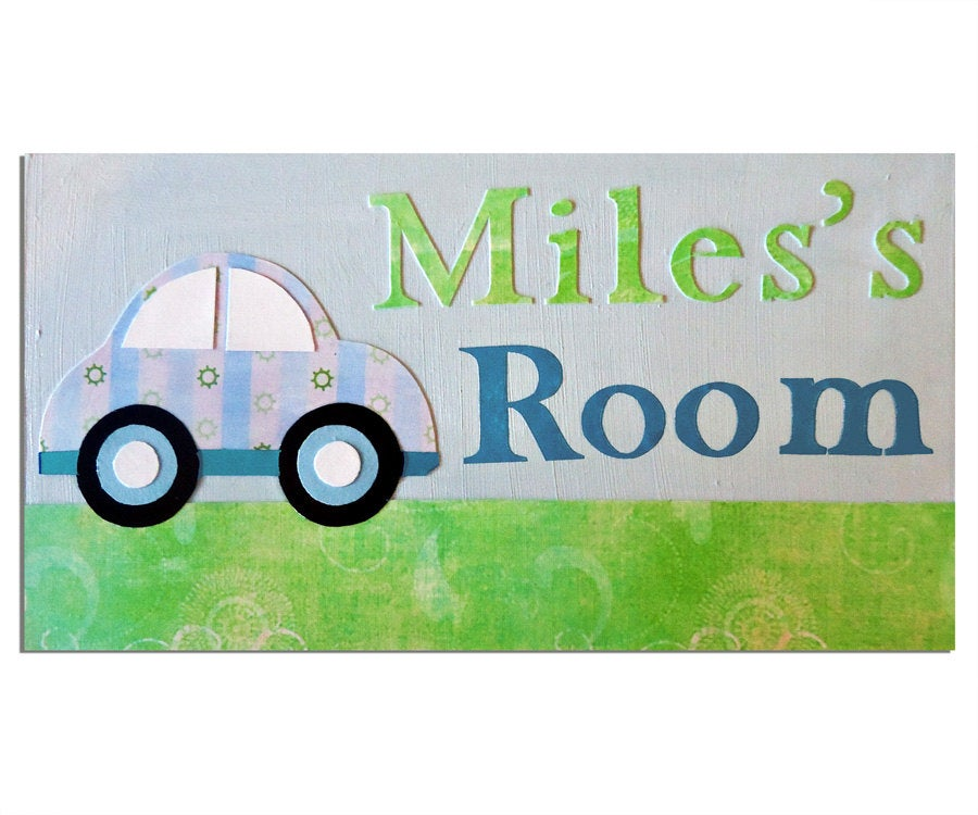 Car Personalised Door Sign, Boys Nursery Decor, Baby Boy Gift, Car Decor, Personalised Gift, Gift for Boys