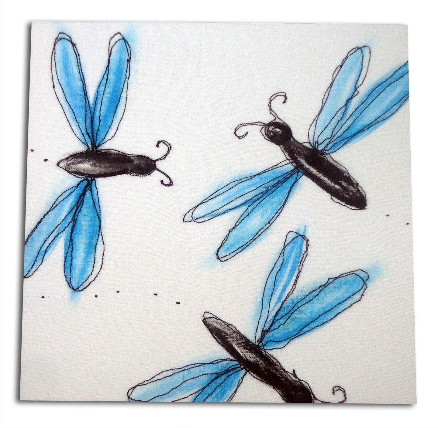 Dragonfly Bug Art, Insect Art, Girls Nursery Decor,  Boys Nursery Decor, Bug Decor