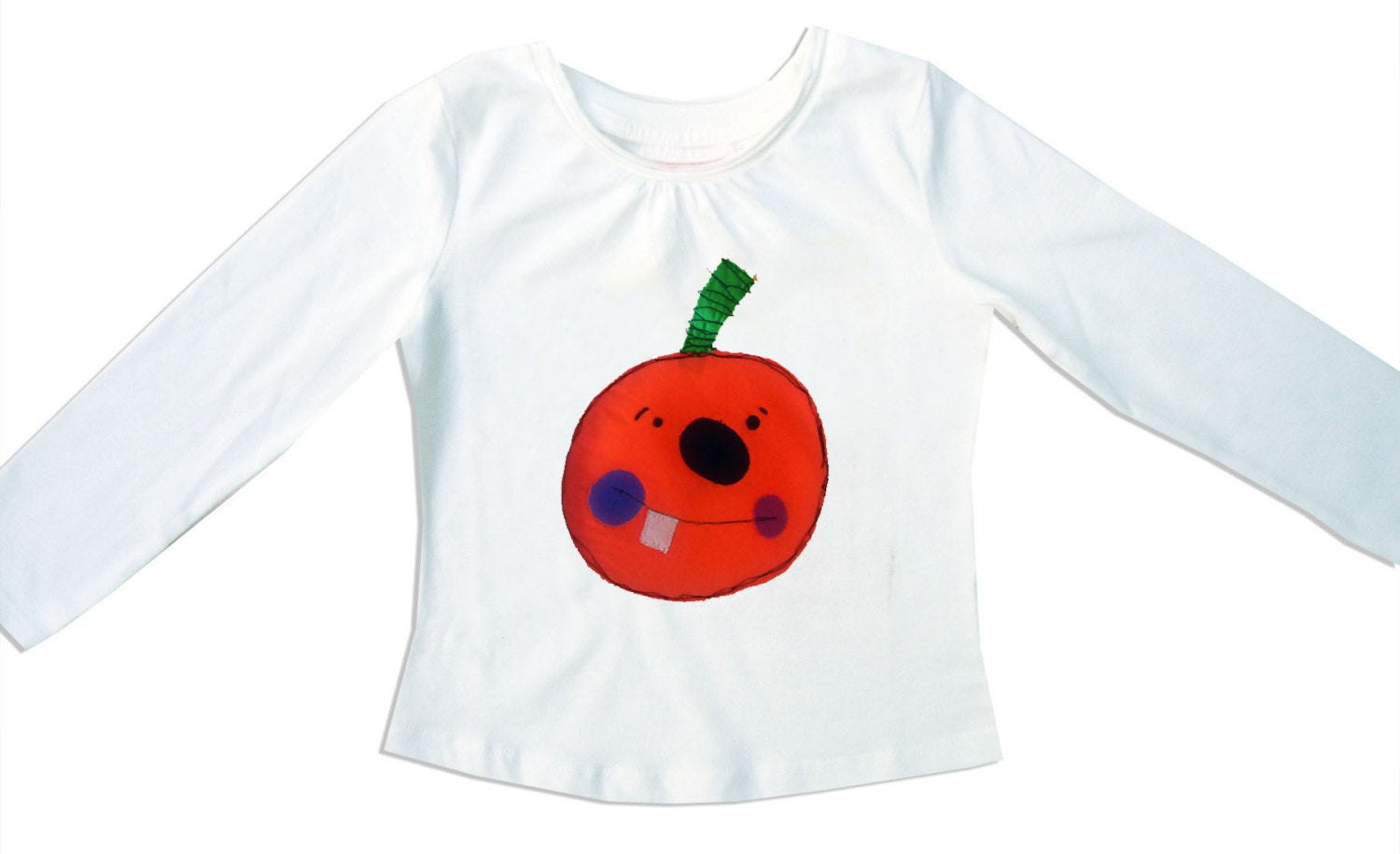 Girl's Halloween T-Shirt, Pumpkin T-shirt, Girls Clothing, Halloween Outfit, Halloween Clothes