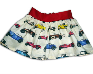 Girl's Cars Skirt, Skirts for Girls, Girls Clothing, Toddler Clothing, Classic Car, Gift for Girls
