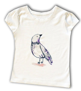 Girls Bird T-shirt, Bird Clothing, Bird Gift, Girls Clothing, Toddler Clothing, Baby Girl Clothing