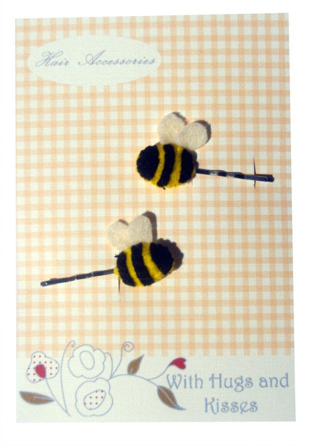 Girls Bee Hair Slides, Kids Hair Accessories, Stocking Filler