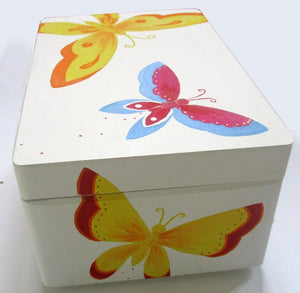 Personalised Butterfly Keepsake Box, Baby Memory Box, Baby Girl Gift, Gift for Girls, Personalized Keepsake Box