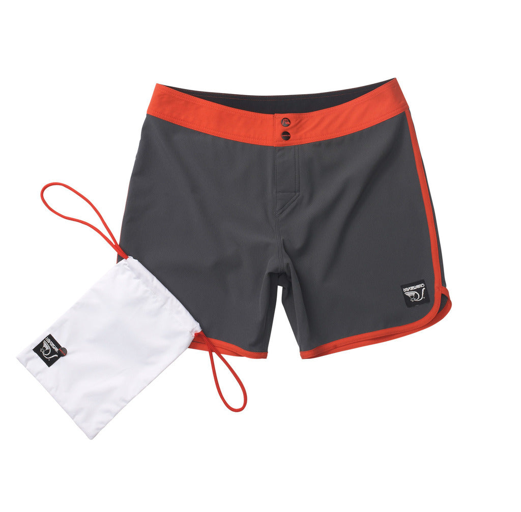 Standard / Quiksilver OG Scallop Grey and Red Boardshorts