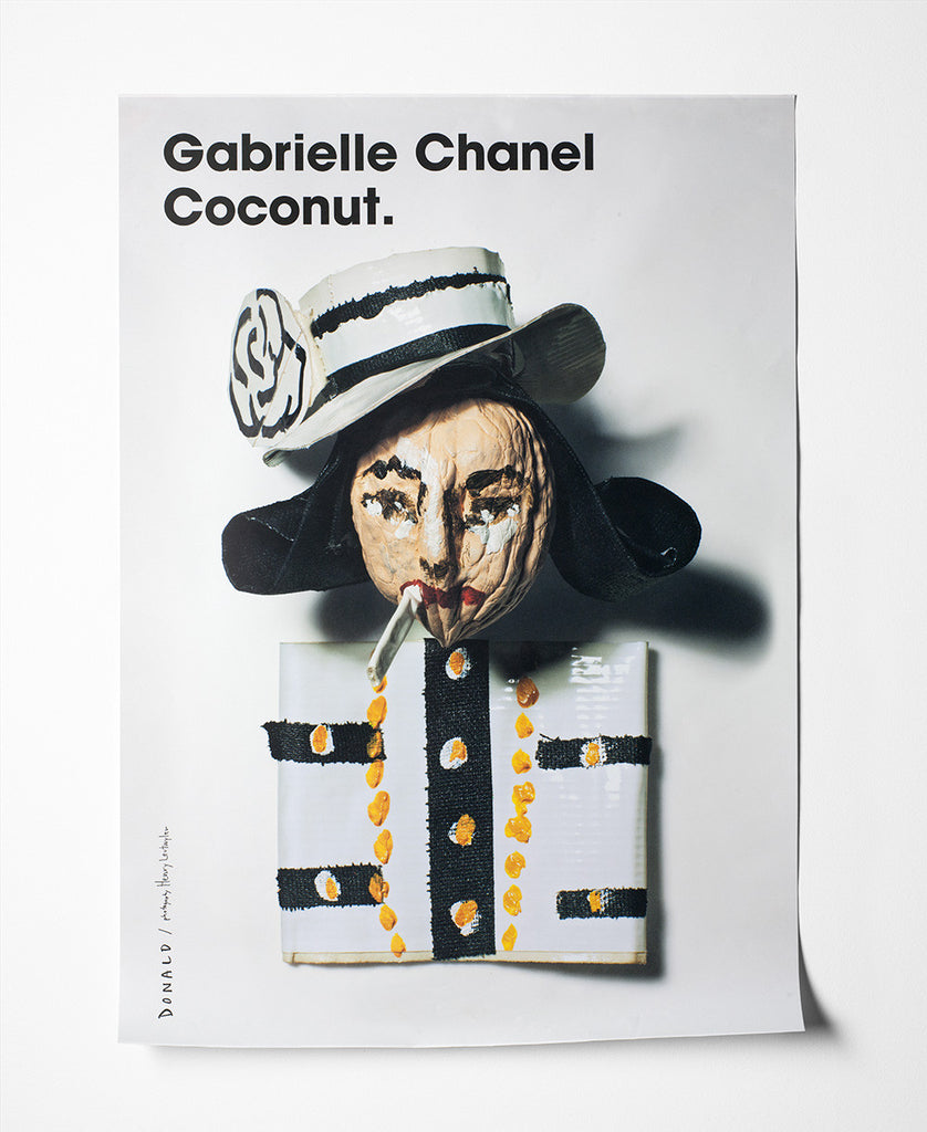 Fashion Is Nuts Coco Chanel Poster