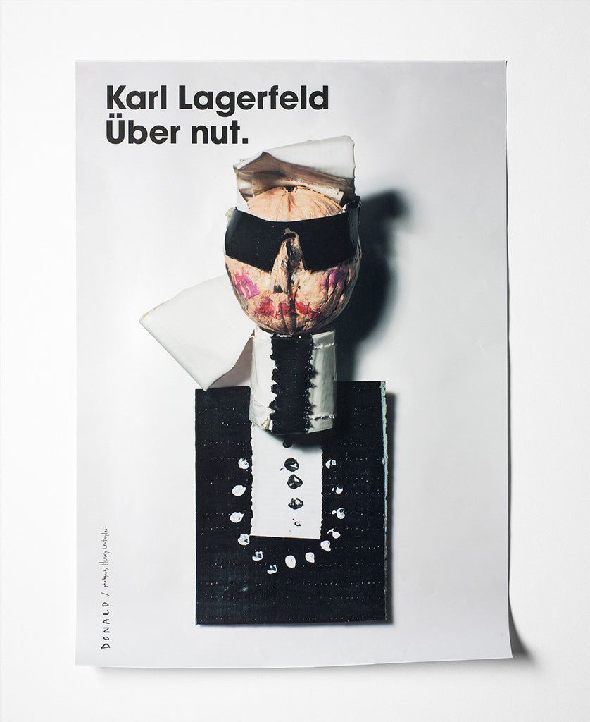 Fashion Is Nuts Karl Lagerfeld Poster