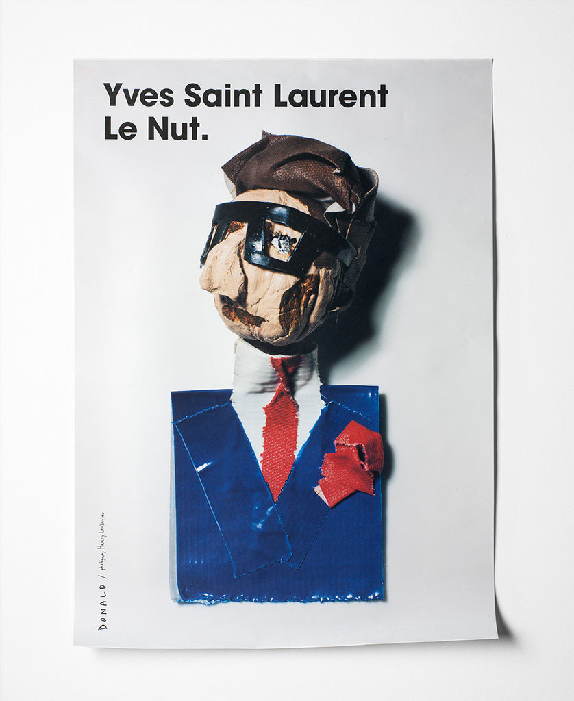 Fashion Is Nuts Yves Saint Laurent Poster