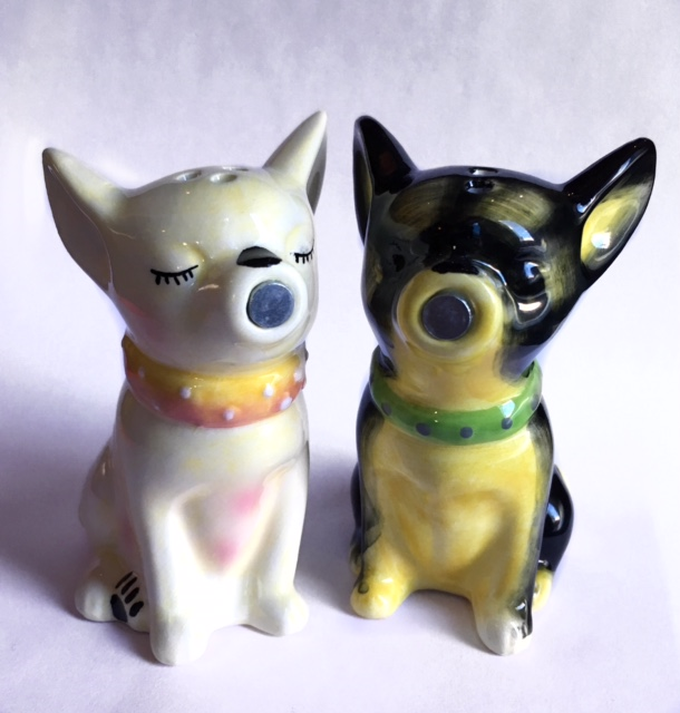 Kissing Chihuahua Salt and Pepper Shakers
