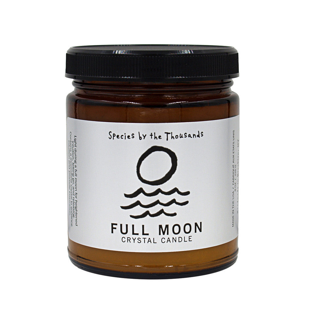 Species by the Thousands-Full Moon Crystal Candle