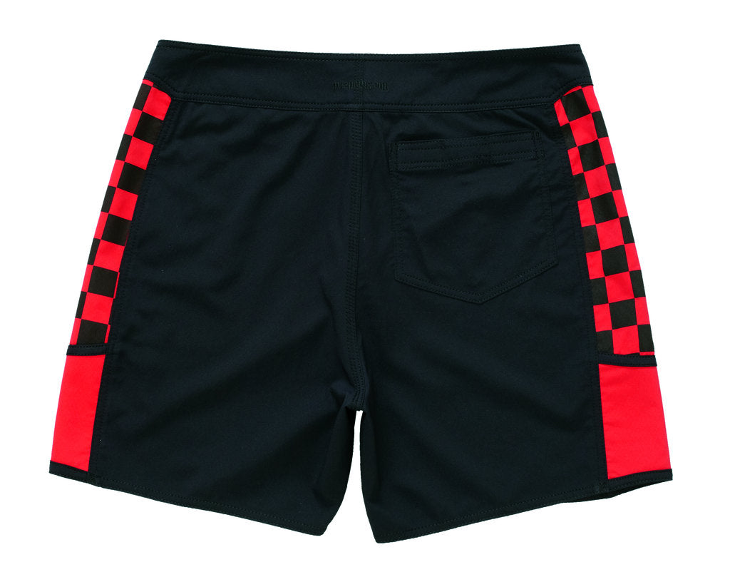 Standard / Quiksilver Kwok Rock Black and Red Boardshorts