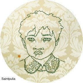 Tomoko Sugimoto, embroidered works on canvas